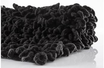 Batex , Badematte, Loop, schwarz, reine Baumwoll-Chenille