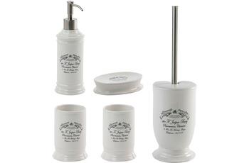 Aquanova Badaccessoires Set Pharmacie (bestehend aus WC-Garnitur, Seifenspender, Kosmetikschale und 2x Zahnputzbecher)