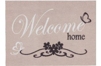 Astra Fussmatte Cardea Welcome home hellgrau 50x70