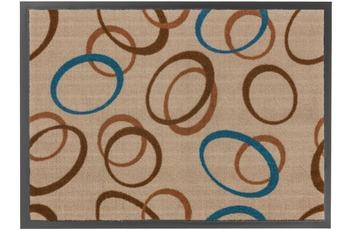 Astra Fussmatte Homelike Kreise blau 50x70