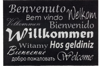 Astra Fussmatte Homelike Willkommen schwarz 50x70