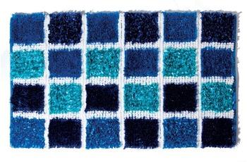 Batex , Badteppich, Halma, blau, mit Glanz-Effekt Garn