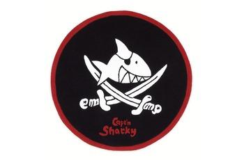 Capt'n Sharky Kinder-Teppich, Käpt'n Sharky und der runde Hai (rund), Öko-Tex zertifiziert