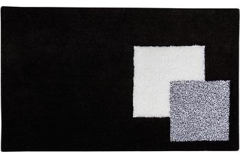 clarissa , Badteppich, Boston, schwarz/ weiß, 18 mm Florhöhe, mit Wellenmuster