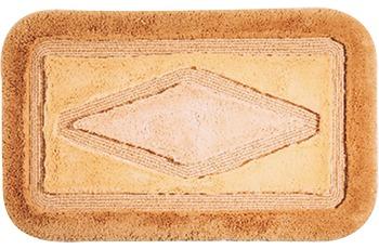 clarissa , Badematte, Comfort, apricot-hell/ apricot-mittel, Polyacryl, Öko-Tex zertifiziert, rechteckig