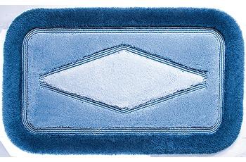 clarissa , Badematte, Comfort, blau-hell/ blau-mittel, Polyacryl, Öko-Tex zertifiziert, rechteckig