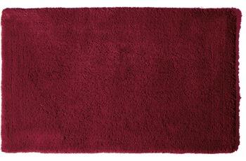 clarissa , Badteppich, Cotton Soft, weinrot, aus reiner Baumwolle