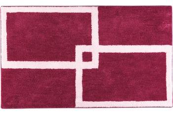 clarissa , Badteppich, Cotton Soft, erika-dunkel/ rose, aus reiner Baumwolle