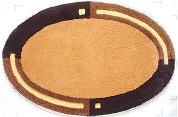 clarissa , Badematte, Imola, calvados/ moorbraun, oval, 25 mm Florhöhe, Öko-Tex zertifiziert