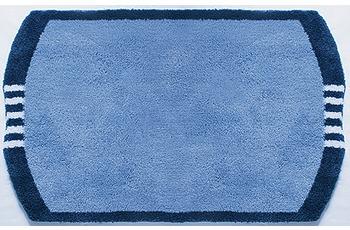 clarissa , Badematte, Monza, blau-mittel/ taubenblau, 25 mm Florhöhe, Öko-Tex zertifiziert