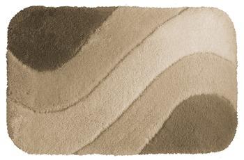 clarissa , Badteppich, Samos, jasmin/ alabaster, mit Wellenmuster, 36 mm Florhöhe
