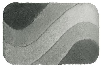 clarissa , Badteppich, Samos, key-west/ grau-mittel, mit Wellenmuster, 36 mm Florhöhe