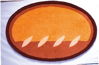 clarissa , Badematte, Siena, mandarine/ terracottal, oval, 25 mm Florhöhe