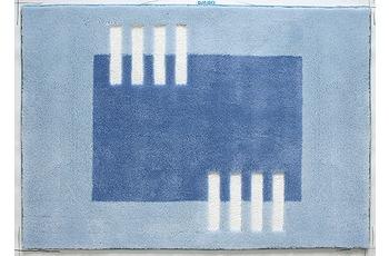 clarissa , Badteppich, Structura, 2 blau hell/ blau mittel, Öko-Tex zertifiziert, 18 mm Florhöhe
