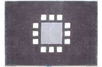 clarissa , Badteppich, Structura, 3 grau-dunkel/ manhattan, Öko-Tex zertifiziert, 18 mm Florhöhe