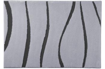 clarissa , Badematte, Versus, manhattan/ grau-dunkel, 18 mm Florhöhe, mit Wellenmuster