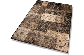 DEKOWE , Teppich, Vintage, anthrazit/ sand, Design, 3, Used-Look