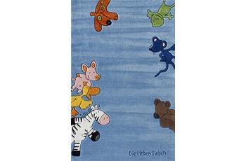 Die Lieben Sieben Kinder-Teppich, blau, Öko-Tex zertifiziert