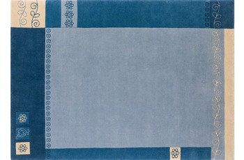 Nepalteppich Dolpa 233 blau