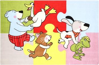 """Eltern Gustav """"Die Freunde spielen"""" bunt 120 x 180 cm"""