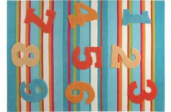 ESPRIT Kinder Teppich, 1,2,3,.. ESP-2976-01 blau, �ko-Tex 100 zertifiziert