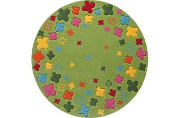 ESPRIT Kinder-Teppich BTeppich Loom Field ESP-2980-02 gr�n 100 x 100 cm rund