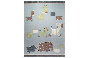ESPRIT Kinder-Teppich, Lucky Zoo ESP-2842-02 blau, Öko-Tex 100 zertifiziert