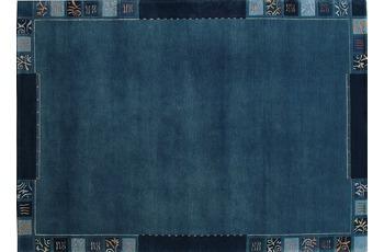Ghorka Nepal-Teppich 808 blau