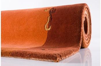 Ghorka exclusive, Nepal-Teppich, 1005, terra, reine Schurwolle, 10 mm Florhöhe