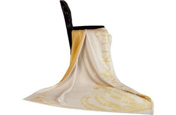 GLÖÖCKLER by KBT Wohndecke Queen, Jacquard weiß/ gold 150x200cm