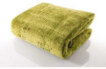 Gözze Mikrofaserdecke in Cashmere-Qualität, limonegrün, 500 g/ m²