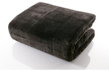 Gözze Mikrofaserdecke in Cashmere-Qualität, schwarz