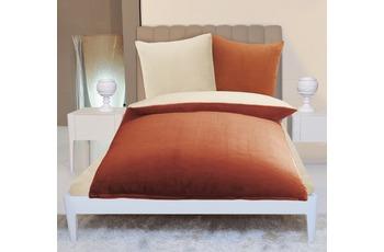 Gözze Wendebettwäsche in Cashmere-Qualität, ecru/ orange Wendebettwäsche in Cashmere-Qualität, 300 g/ m² 135x200 + 80x80 c