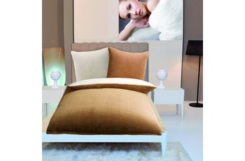 Gözze Wendebettwäsche in Cashmere-Qualität, sand/ wollweiß Wendebettwäsche in Cashmere-Qualität, 300 g/ m² 155x220 + 80x80 c