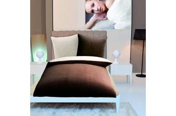Gözze Wendebettwäsche in Cashmere-Qualität, schoko-braun/ wollweiß Wendebettwäsche in Cashmere-Qualität, 300 g/ m² 135x200 + 80x80 c