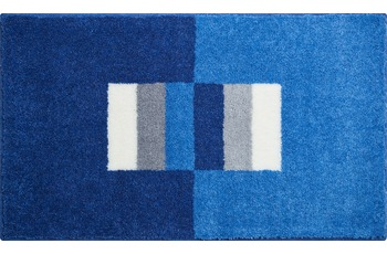 GRUND Linea Due CAPRICIO Badteppich blau 60x100 cm