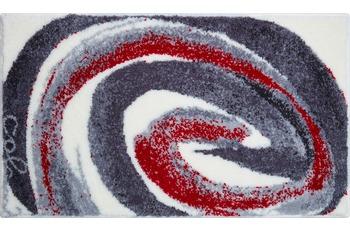 Colani 42 Badteppich grau-rot 60x100 cm
