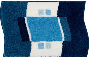 GRUND , Badteppich, LUGANO 186 blau