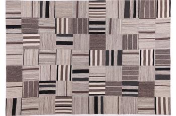 handgewebter Teppich FLASH HOUSE 1604 black/ beige gemustert 140 x 200 cm