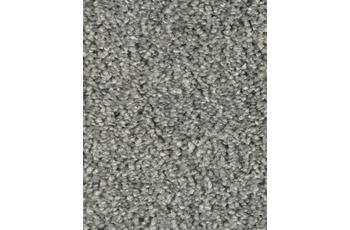 Hometrend Teppichboden Hochflor Uni-Velours lichtgrau