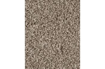 Hometrend Teppichboden Hochflor Uni-Velours seidengrau