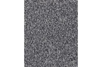 Hometrend Teppichboden Hochflor Velours schiefergrau