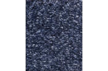 Hometrend Teppichboden Hochflor Velours stahlblau