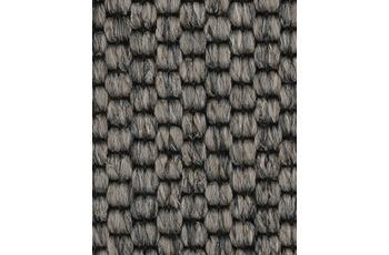 Hometrend Teppichboden Meterware Flachgewebe-Schlinge Dunkelgrau