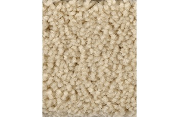 Hometrend Teppichboden Meterware Hochflor Velours Beige/ Creme