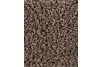 Hometrend Teppichboden Meterware Hochflor Velours Braun