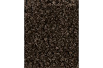 Hometrend Teppichboden Meterware Hochflor Velours Dunkelbraun