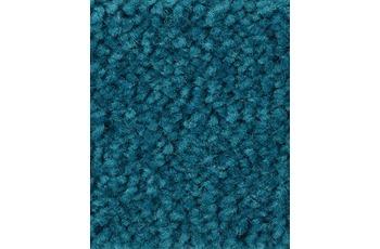 Hometrend Teppichboden Meterware Hochflor Velours Mittelblau