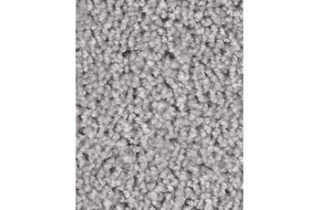 Hometrend Teppichboden Meterware Hochflor Velours Silber