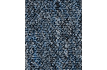 Hometrend Teppichboden Meterware Schlinge Blau meliert